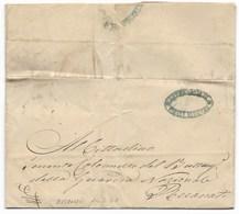 REPUBBLICA ROMANA - DA FILOTTRANO A RECANATI - 24.3.1849. - ...-1850 Préphilatélie
