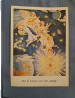 (G1) Joyeux Noël, La Descente Des Anges Sur Terre Par Karickar ,carte Artistique VIVERE . Wemmel. - Noël