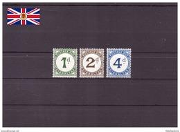 Gibraltar 1956 - MNH ** - Chiffres - Timbres-taxe Michel Nr. 1-3 Série Complète (gbz169) - Gibraltar
