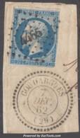 *RARETE* PC 4465 (Goudargues, Gard (29)), Cote +++230€ - Marcophily (detached Stamps)