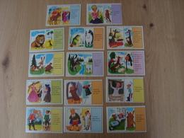 LOT DE 14 IMAGES EN CARTON VOLUMETRIX COMPTINES ET FABLES - Vieux Papiers