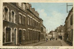 N°728 T -cpa Fruges -collège Saint Bertulphe Rue Du Paradis- - Fruges