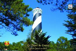Set 6 Cartes Postales, Phares, Lighthouses Of Europe, France, Saint-Julien-en-Born, Le Phare De Contis - Vuurtorens