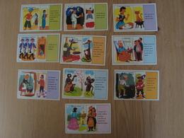 LOT DE 10 IMAGES EN CARTON VOLUMETRIX COMPTINES ET FABLES - Vieux Papiers