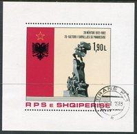 ALBANIA 1982 Independence Anniversary Block Used.  Michel Block 76 - Albanie