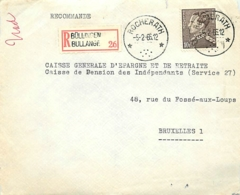 Belgique.  TP 848 A  Devant  L. Rec.  DR Rocherath   1966 - Postmarks With Stars