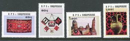 ALBANIA 1982 Handicrafts MNH / **.  Michel 2141-44 - Albanie