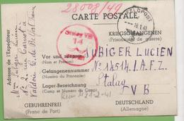 Correspondance CP Femme à Son Mari Prisonnier De Guerre De Valdoie à Stalag VB 16/01/41 - Marcophilie (Lettres)