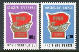 ALBANIA 1982 Youth Workers' Congress MNH / **.  Michel 2139-40 - Albania