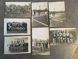 LOT DE 7 CARTES PHOTOS COURSE DE FOND EN 1922/23 LA COURNEUVE PARIS - Atletismo