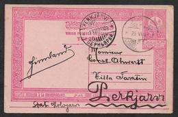 1909 TURKEY 20P PSC CONSTANTINOPLE TO PERKJÄRVI (KIRILLOVSKOYE) FINLAND - VERY SCARCE DESTINATION - 1858-1921 Ottomaanse Rijk