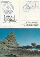"""TAAF-Port Aux Français-Kerguelen: Carte Baie Larose """"Kerguelen De Trémarec"""" Avec N°206 Voilier Y. De Kerguelen -02/03/97 - Briefe U. Dokumente"""