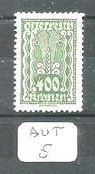 AUT YT 279 En XX - 1918-1945 1. Republik