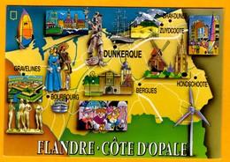 Flandre Côte D'Opale  N°  Mage    N° 1959 - Maps