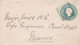 INDIA - HALF ANNA. ENTIRE CIRCULATED TO MURREE, CIRCA 1900's .- LILHU - India (...-1947)