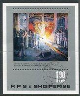 ALBANIA 1982 Paintings Block Used.  Michel Block 75 - Albanie