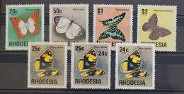 Butterflies Papillons Schmetterlinge Rhodesia Incl. Overprint / ** MNH - Papillons