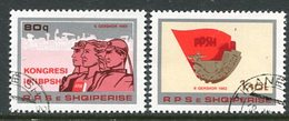 ALBANIA 1982 Trades Unions Congress Used.  Michel 2129-30 - Albanie
