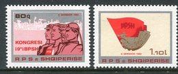 ALBANIA 1982 Trades Unions Congress  MNH / **.  Michel 2129-30 - Albania