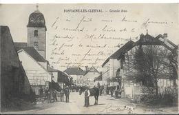 FONTAINE Les CLERVAL Grande Rue - Autres Communes