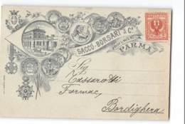 17730 SACCO BORSARI PROFUMIERI PARMA X BORDIGHERA - 1900-44 Victor Emmanuel III