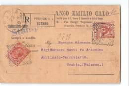 17731 BANCO EMILIO CALO FIRENZE X TRABIA - 1900-44 Victor Emmanuel III
