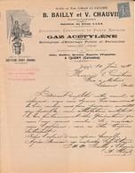 Isigny (Calvados) - B.Bailly Et V.Chauvin - Entreprise D'éclairage Public Acétylène - France