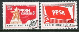 ALBANIA 1981 Labour Party Congress Used  Michel 2103-04 - Albanie