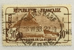 Timbres France 1926-27 YT 230 (°) Oblitéré Orphelins De La Guerre Lion De Belfort (côte 15,5 Euros) – 72b - Gebruikt