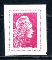 N° 1656A ADHESIF  20 Gr LETTRE SUIVIE MARIANNE L'ENGAGEE NEUF ** - Frankrijk