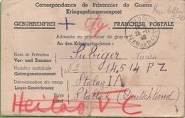 Correspondance 3 Feuillets Femme à Son Mari Prisonnier De Guerre De Valdoie à Stalag IA 25/11/40 - Poststempel (Briefe)