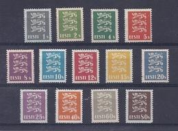 180030280  ESTONIA  YVERT  Nº  97/109  */MH  NO GUM - Estonia