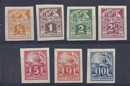 180030278  ESTONIA  YVERT  Nº  49B/56B  */MH  NO GUM - Estonia