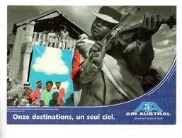 """AVION . AIR AUSTRAL . """" ONZE DESTINATIONS, UN SEUL CIEL """" . MADAGASCAR . LES HIRA GASY DE ANTANARIVO - Réf. N°24032 - - Aviation"""