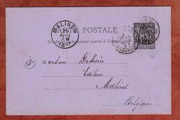 P 8 Allegorie, Paris Nach Malines 1887 (88472) - Standard- Und TSC-AK (vor 1995)