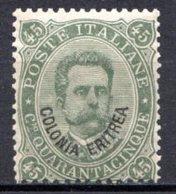 ERYTHREE (Colonie Italienne) - 1893 - N° 8 - 45 C. Vert-gris - (Timbre D'Italie De 1863-91) - Eritrea