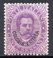 ERYTHREE (Colonie Italienne) - 1893 - N° 9 - 60 C. Violet - (Timbre D'Italie De 1863-91) - Eritrea