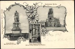 Cp Phalsbourg Pfalzburg Lothringen Moselle, Georges Mouton, Augustin Schöffler, Katholische Kirche - Francia