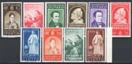 Italia Regno 1937 Sass.426/35 **/MNH VF/F - Nuovi