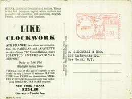 WIEN / VIENNA - AIR FRANCE AIR LINE - LIKE CLOCKWORK - NEW YORK - WIEN $354 - PHOTO A. MEHEUX - 1950s (5890) - Avions