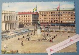 CPSM GOTEBORG - Gustav Adolfs Torg / Adolf Square - écrite - Rare Vue - Suède Sweden - Photo Lindeberg 164 Gothenburg - Suède