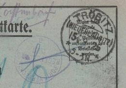 Deutsches Reich Karte Mit Tagesstempel TRÖBITZ / (NIEDERLAUSITZ) / * * 1925  KOS Stempel Portoverrechnung Regensburg - Cartas