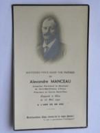 Image Religieuse - Décès Alexandre MANCEAU 1941 - Saint Barthélemy D'Anjou 49 - Conseiller Municipal, Paroissial - Images Religieuses