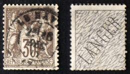 "N° 69 30c Brun-foncé SAGE NSousB ""langer"" Au Verso Cote ???€ - 1876-1878 Sage (Type I)"