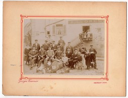 Photographie Georges Tournier Orgelet Jura Fanfare Auguste Grelet? Sans Garantie Sur Le Nom Photo 17,5cm X 12,3cm - Photographs