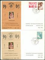Belgium 2 Special Souvenir Sheet Madonna On Cover 1965 Fp58-2 - Commemorative Labels