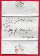 PREFILATELICA PONTIFICIO - 1832 Lettera E Testo CANINO TOSCANELLA - Brigata Carabinieri Pontifici CANINO - Italy