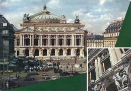 CPM. PARIS . MULTIVUES  L'OPERA . CARTE  ECRITE AU VERSO - Andere Monumenten, Gebouwen