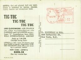 GENEVE - AIR FRANCE AIR LINE - LIKE CLOCKWORK - NEW YORK - GENEVE  $328 - PHOTO A. MEHEUX - 1950s (5893) - Avions