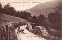 DOUBS 25.DE VAUFREY A SAULCE ARRIVAGE DU BOIS - France